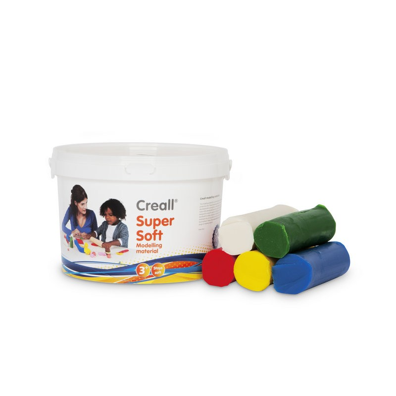Creall-supersoft Knete 1750Gr in 5 Farben