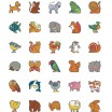 Erkennungsschilder Tiere Aufkleber