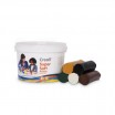 Creall-supersoft Knete 1750gr in 5 Safari-Farben
