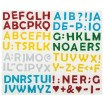 Moosgummi Glitter-Sticker, 100 Stück Buchstaben, farbig sortiert